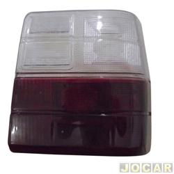Lente da lanterna traseira - alternativo - Uno 1984 até 2004 - vermelho/branco - lado do passageiro - cada (unidade)