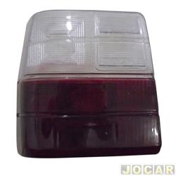 Lente da lanterna traseira - alternativo - Uno 1984 até 2004 - vermelho/branco - lado do motorista - cada (unidade)