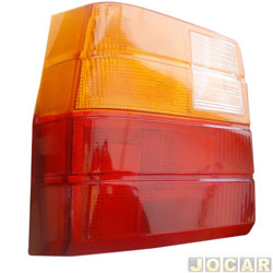 Lente da lanterna traseira - alternativo - Uno 1984 até 2004 - lado do motorista - cada (unidade)