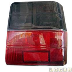 Lente da lanterna traseira - alternativo - Uno 1984 até 2004 - fumê - lado do passageiro - cada (unidade)