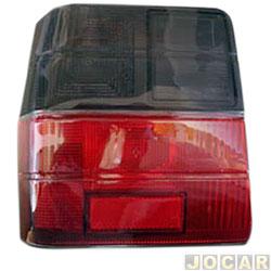 Lente da lanterna traseira - alternativo - Uno 1984 até 2004 - fumê - lado do motorista - cada (unidade)