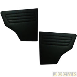 Revestimento lateral traseiro - alternativo - Fiat Uno 1984 até 2010 - curvin - preto - par