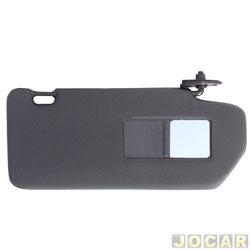 Quebra-sol - Newtec - Uno 1984 até 2004 - com espelho - preto - lado do passageiro - cada (unidade) - NT1000FT