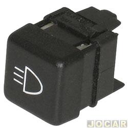 Interruptor do farol de milha - alternativo - Uno 1984 até 1992 - Uno Eletronic até 1994 - cada (unidade)
