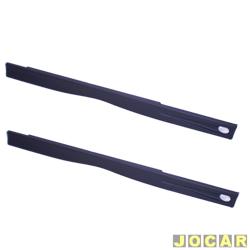 Spoiler lateral - Uno 1984 até 2004 - 2 portas - com grade - preto - par