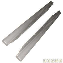 Spoiler lateral - alternativo - Uno 1991 até 2004 - 4 portas - cinza - par
