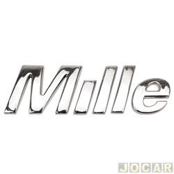 Letreiro - alternativo - Uno 2005 até 2010 - Mille - cromado - cada (unidade)