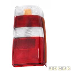 Lente da lanterna traseira - alternativo - RN Lanternas - Fiorino 2005 até 2013 - vermelho e branco - lado do passageiro - cada (unidade) - 0834ACR