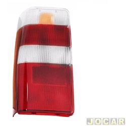 Lente da lanterna traseira - alternativo - RN Lanternas - Fiorino 2005 até 2013 - vermelho e branco - lado do motorista - cada (unidade) - 0835ACR