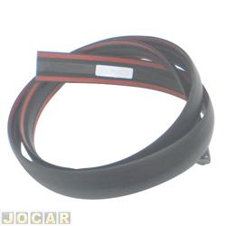 Friso do teto - alternativo - Uno 2005 até 2010 - fixado com fita adesiva - preto - lado do motorista - cada (unidade)