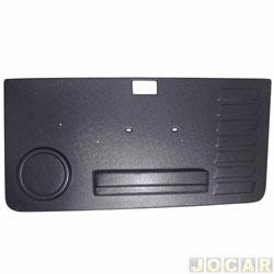 Revestimento de porta - alternativo - Uno 1984 até 2004 - Prêmio/Elba 1984 até 1993 - Moldado - 2 portas - preto - lado do passageiro - cada (unidade)