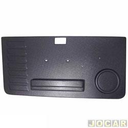 Revestimento de porta - alternativo - Uno 1984 até 2004 - Prêmio/Elba 1984 até 1993 - Moldado - 2 portas - preto - lado do motorista - cada (unidade)
