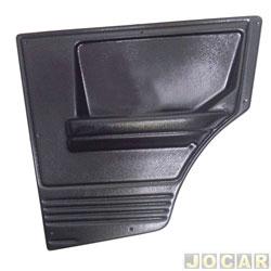 Revestimento lateral traseiro - alternativo - Uno/Prêmio/Elba 1984 até 2004 - moldado - 2 portas - preto - lado do passageiro - cada (unidade)