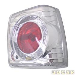 Lanterna traseira tuning - alternativo - RCD / InovWay - Uno 1984 até 2004 - Evolution - cristal (branca) - lado do passageiro - cada (unidade) - I 2524