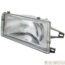 Farol - alternativo - RCD / InovWay - Uno/Fiorino 1991 até 2004 - Elba/Prêmio 1991 até 1996 - H4 - lente de vidro - lado do passageiro - cada (unidade) - FV218RV