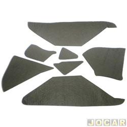 Anti-ruído do capô - Toroflex / Vibrac System - Uno/Fiorino - 2005 até 2010   - auto-adesivo - preto - jogo - 03464