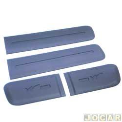 Friso lateral - alternativo - Uno Way 2011 até 2014 - largo - auto colante - 4 Portas - cinza - jogo