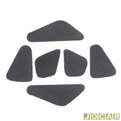 Anti-ruído do capô - Toroflex / Vibrac System - Palio/Weekend/Siena/Strada 2001 até 2007 - auto-adesivo - preto - jogo - 03473