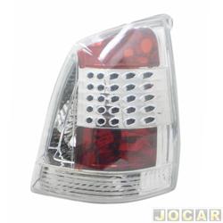 Lanterna traseira tuning - alternativo - Inovox (RCD) - Palio 2004 até 2007 - efeito LED - cristal (branca) - lado do passageiro - cada (unidade) - I2548