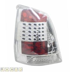 Lanterna traseira tuning - alternativo - Inovox (RCD) - Palio 2004 até 2007 - efeito LED - cristal (branca) - lado do motorista - cada (unidade) - I2549