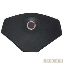 Botão da buzina - Valepur - Palio 2012 em diante - preto - cada (unidade) - TB-0257