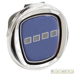 Maçaneta da tampa da caçamba - Original Fiat - Strada 2005 até 2008 - com emblema azul - cada (unidade) - 51737232