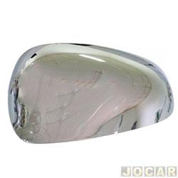 Aplique capa do retrovisor - Palio 2012 em diante - auto-adesiva - cromada - lado do passageiro - cada (unidade)