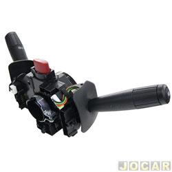 Chave de seta - Kostal - Palio/Weekend/Siena/Strada 2007 até 2012 - sem limpador traseiro - farol duplo - desembaçador e trip - cada (unidade) - 10002294