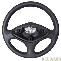 Volante - Haste - Palio/Weekend/Siena/Strada 2004 até 2007 - modelo original sem a tampa da buzina - cinza - cada (unidade) - 422571
