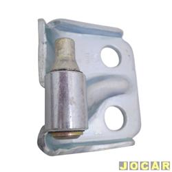Dobradiça da porta - Palio/Siena/Strada 1996 até 2007 - dianteira e traseira - inferior - lado do passageiro - cada (unidade)