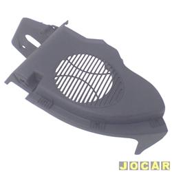 Suporte tampão do porta-malas - Original Fiat - Palio Hatch 2001 até 2007 - cinza escuro - lado do passageiro - cada (unidade) - 735.289.856