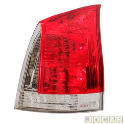 Lanterna traseira - Magneti Marelli - Palio 2004 até 2007 - pisca e ré fumê   - lado do passageiro - cada (unidade) - IMM0321105