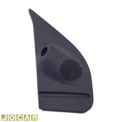 Acabamento interno retrovisor - alternativo - Palio - Siena - Strada - 1996 até 2003 - 2 portas - com controle - preta - lado do motorista - cada (unidade)