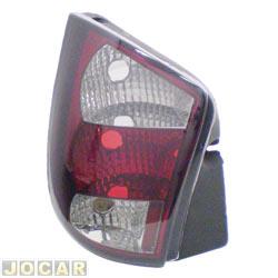 Lanterna traseira tuning - alternativo - Inovox (RCD) - Palio 1996 até 2000 - vermelha/fumê  - lado do motorista - cada (unidade) - I2407