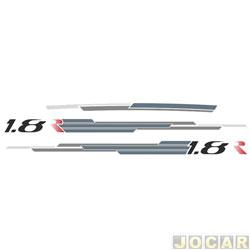 Faixa adesiva - alternativo - Palio 1.8R 2007 até 2010 - 4 portas - jogo