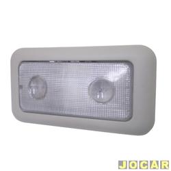 Lanterna de teto - alternativo - Palio/Weekend/Siena 2004 até 2007 - cinza claro - central - cada (unidade)