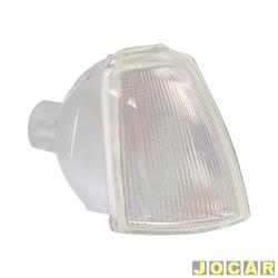 Lanterna dianteira - Fitam - Renault 19 1993 até 1998 - acrílico - cristal (branca) - lado do passageiro - cada (unidade) - 32028-D