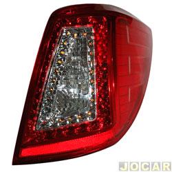Lanterna traseira - importado - Lifan X60 2013 até 2016 - com led e soquete - lado do passageiro - cada (unidade) - 26538