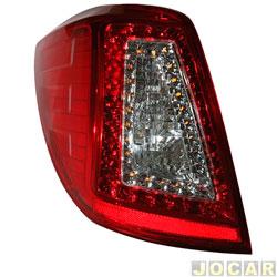 Lanterna traseira - importado - Lifan X60 2013 até 2016 - com led e soquete - lado do motorista - cada (unidade) - 26539