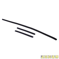 Protetor do para-choque - Clio Hatch 1999 até 2002 - preto - jogo