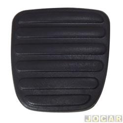 Capa de pedal - alternativo - Logan 2007 até 2013 - Sandero 2007 até 2014 - Freio - Embreagem - preta - cada (unidade)