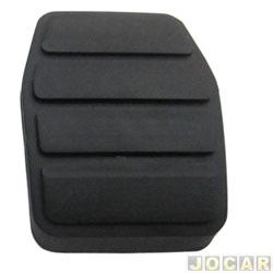Capa de pedal - alternativo - Master 2002 até 2012 - freio e embreagem - preta - cada (unidade)