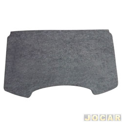 Tampão do porta-malas - alternativo - MLC - Sandero 2007 até 2014 - de madeira compensado 10mm com carpete - cinza - cada (unidade) - 500149