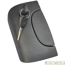 Maçaneta da tampa traseira - alternativo - Kango/Kango Express 2000 em diante  - modelo (baú) com chave - cada (unidade)