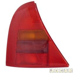 Lanterna traseira - alternativo - TYC - Clio Hatch 2000 até 2002 - vermelha - lado do motorista - cada (unidade) - 511493