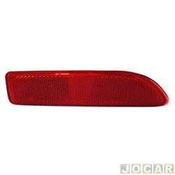 Defletor do para-choque - Logan/Sandero 2011 até 2013  - acrilica - vermelha - traseiro - lado do passageiro - cada (unidade)