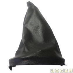 Coifa da alavanca de câmbio - alternativo - Logan/Sandero 2007 até 2014 - com base - de napa - cinza escuro - cada (unidade)