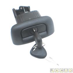 Maçaneta da tampa traseira - Clio sedan 1999 até 2003 - com chave - cada (unidade)