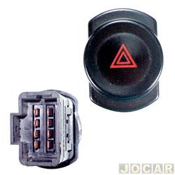 Interruptor de emergência - DNI - Logan/Sandero 2007 até 2013 - cada (unidade) - 2108