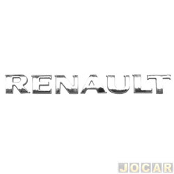 Letreiro - alternativo - Duster/Fluence 2010 em diante - Sandero/logan 2007 em diante - Renault - prata - cada (unidade)